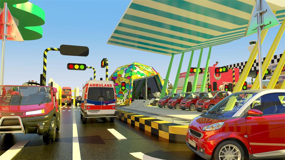 红绿灯交通城儿童乐园