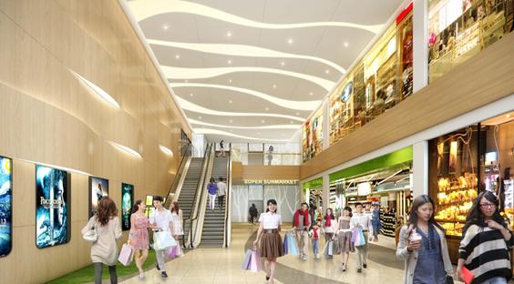 深圳坂田湾畔购物中心