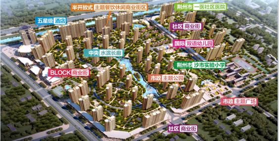 荆州恒隆四季城BLOCK商业街