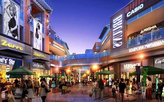 泉州晋江新城紫峰步行街