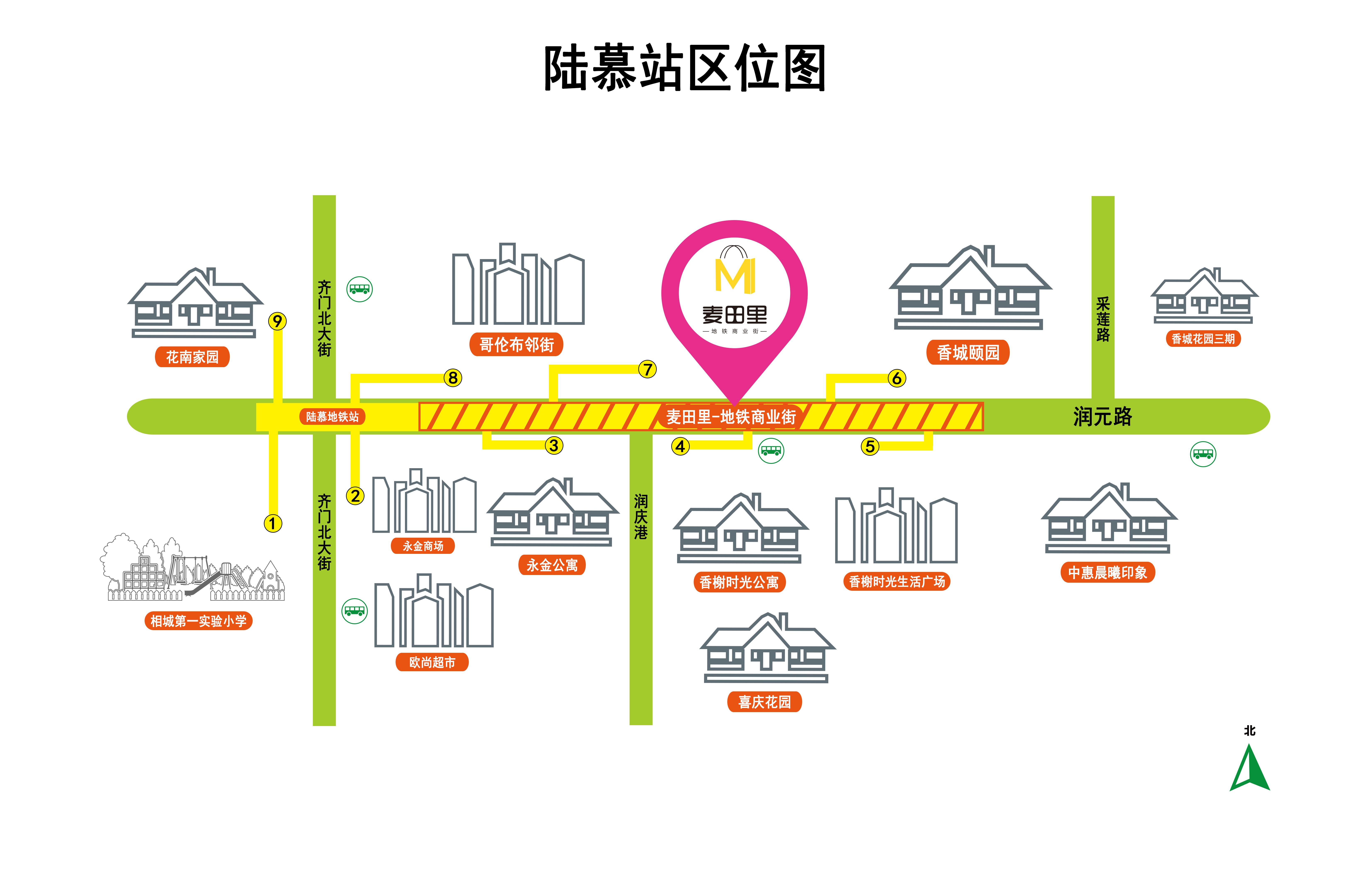 """苏州陆慕站""""麦田里""""地铁商业街"""