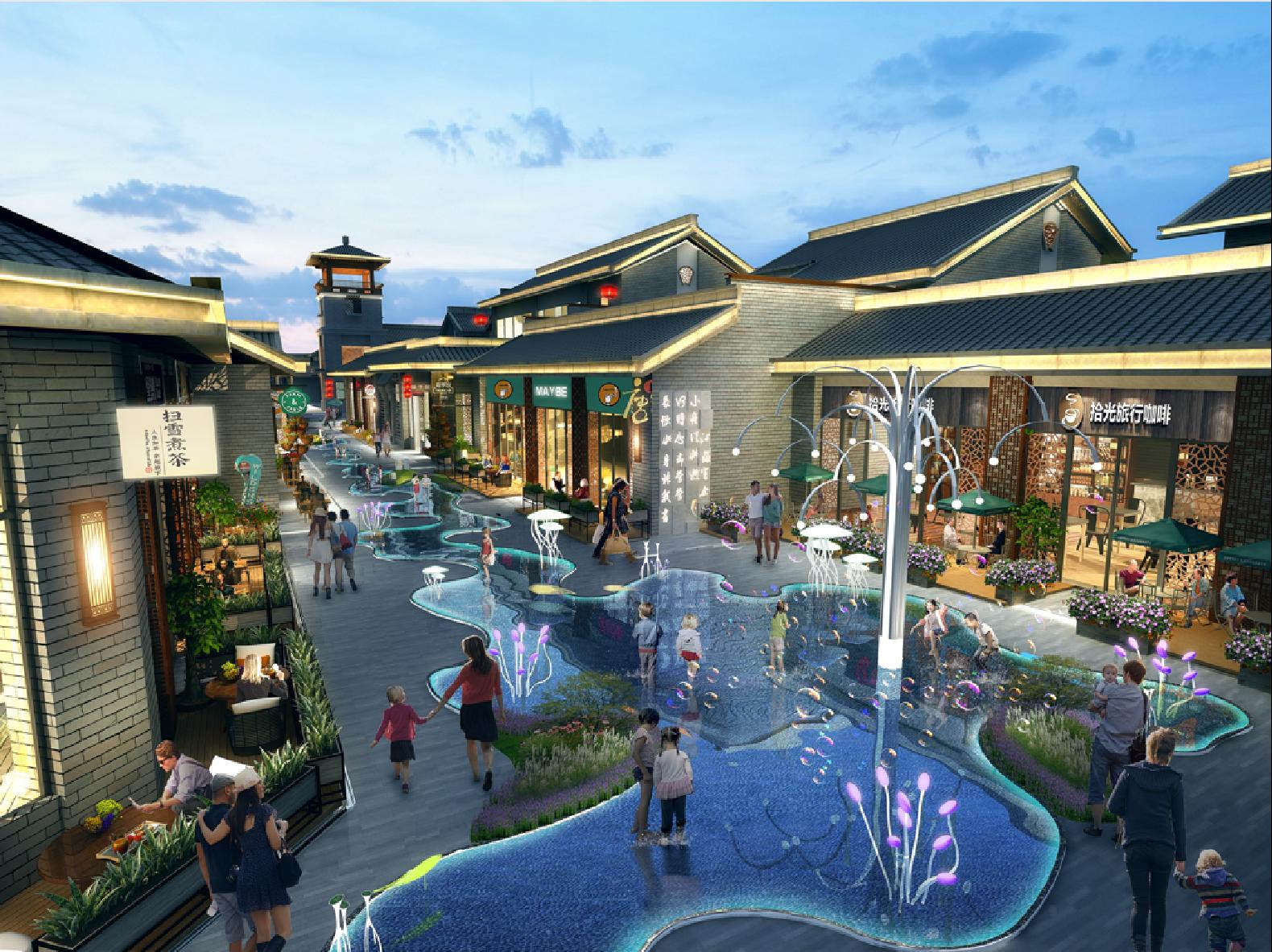 眉山美乐湾国际旅游度假区永乐坊水街
